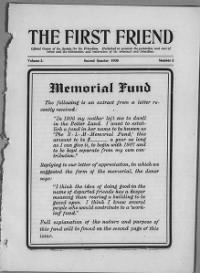 Sample First Friend front page