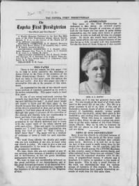 Sample Topeka First Presbyterian front page