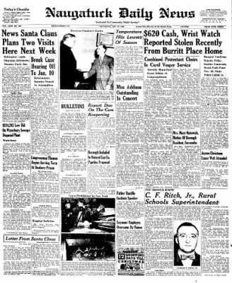 Naugatuck Daily News from Naugatuck, Connecticut on December 10, 1949 · Page 1