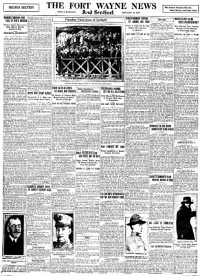 The Fort Wayne Sentinel from Fort Wayne, Indiana on January 24, 1919 · Page 13