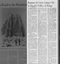 Rumors of a curse on King Tut's tomb linger, 1972