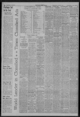 The Los Angeles Times From California On November 8 1939 16
