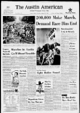 Texas newspaper headlines about the March on Washington; Also, news of local civil rights march