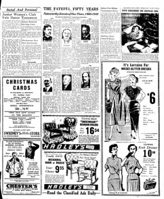 Naugatuck Daily News from Naugatuck, Connecticut on December 16, 1949 · Page 3