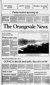 Sample The Orangevale News front page