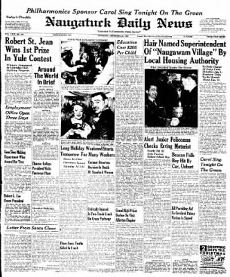 Naugatuck Daily News from Naugatuck, Connecticut on December 22, 1949 · Page 1