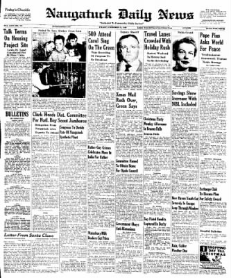 Naugatuck Daily News from Naugatuck, Connecticut on December 23, 1949 · Page 1
