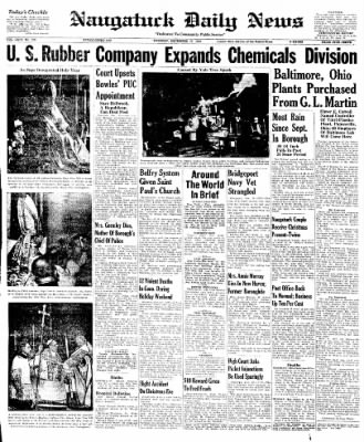 Naugatuck Daily News from Naugatuck, Connecticut on December 27, 1949 · Page 1