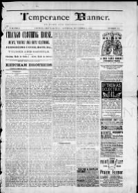 Sample Temperance Banner front page
