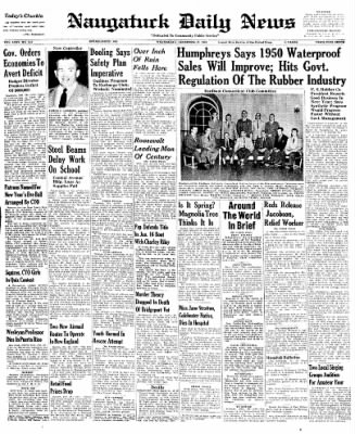 Naugatuck Daily News from Naugatuck, Connecticut on December 28, 1949 · Page 1