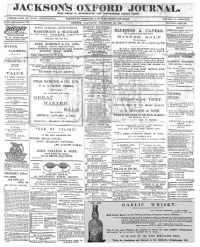 Sample Jackson's Oxford Journal front page
