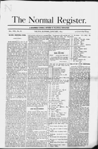 Sample Normal Register front page
