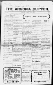 Sample Argonia Clipper front page