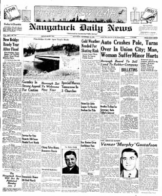 Naugatuck Daily News from Naugatuck, Connecticut on December 31, 1949 · Page 1