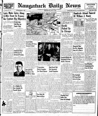 Naugatuck Daily News from Naugatuck, Connecticut on July 5, 1944 · Page 1