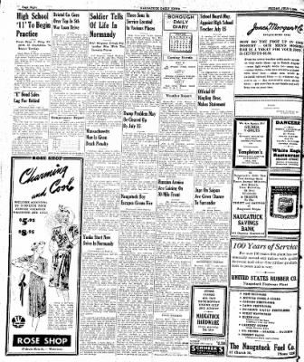 Naugatuck Daily News from Naugatuck, Connecticut on July 7, 1944 · Page 8
