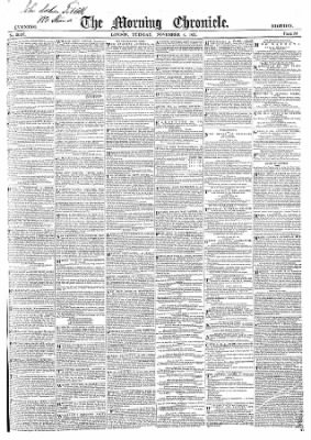 The Morning Chronicle from London, Greater London, England on November 4, 1851 · 1