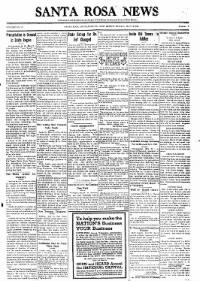 Sample The Santa Rosa News front page