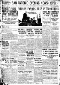 Sample San Antonio Evening News front page