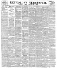 Sample Reynolds's Newspaper front page