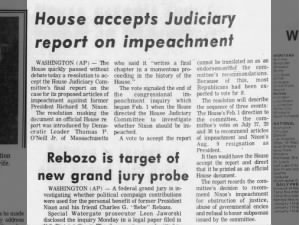 House of Representatives accepts Judiciary Committee report on impeachment