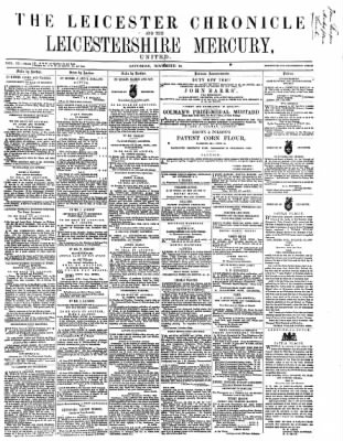 Leicester Chronicle or Commercial and Leicestershire Mercury from Leicester, on November 25, 1865 · 1