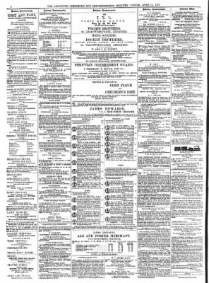 Leicester Chronicle or Commercial and Leicestershire Mercury from Leicester, Leicestershire, England on April 13, 1867 · 4