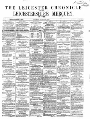Leicester Chronicle or Commercial and Leicestershire Mercury from Leicester, on October 10, 1868 · 1