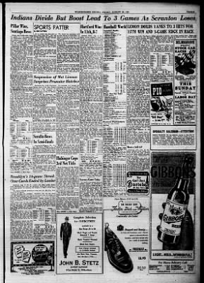Wilkes Barre Times Leader The Evening News Record From Pennsylvania On August 24 1951