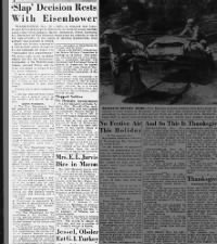 Decision for consequence of Patton slapping soldier rests with General Eisenhower