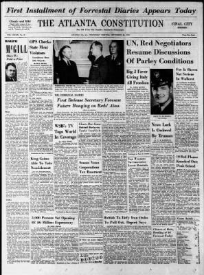 The Atlanta Constitution from Atlanta, Georgia on September 26, 1951 · 1