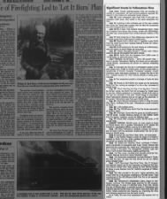 Yellowstone fire timeline - 1988