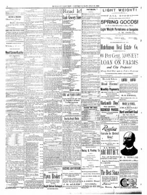 The Hutchinson News From Hutchinson Kansas On July 21 1888 Page 8