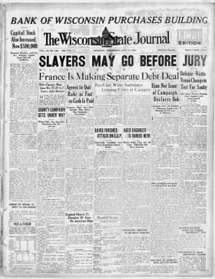State Journal Gives More Ink To Iran >> Wisconsin State Journal From Madison Wisconsin On July 30 1924 1