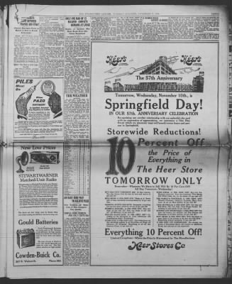 Springfield Leader And Press From Missouri On November 9 1926 Page 3
