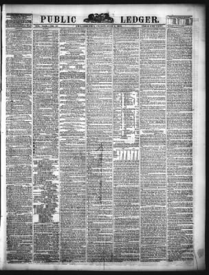 Public Ledger from Philadelphia, Pennsylvania on June 1, 1860 · Page on