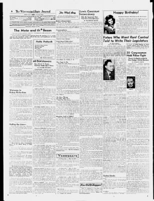 Wisconsin State Journal from Madison, Wisconsin on March 12, 1947 · 6