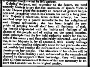 Editorial: New queen Victoria will give
