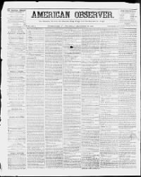Sample The American Observer front page