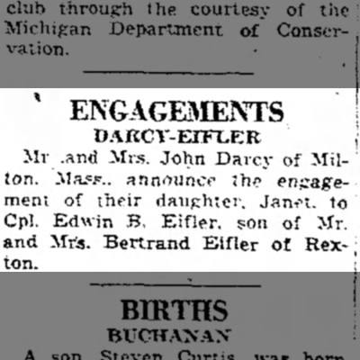 eifler - ENGAGEMENTS DAKCV-EIFLER Mr .and Mrs. John...