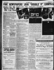 News, ads, and photos about the Double V Campaign from June 1942