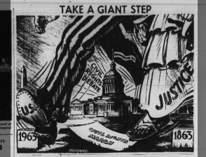 Newspaper cartoon about the March on Washington for Jobs and Freedom