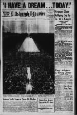 Pittsburgh Courier's front page from its issue dedicated to the 1963 March on Washington