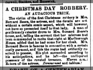 A Christmas Day Robbery