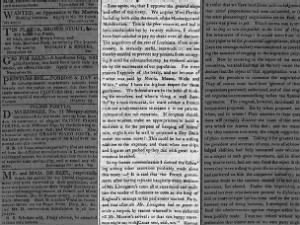 Federalist opinion piece in favor of the Louisiana Treaty arranged by Munroe [sic] and Livingston