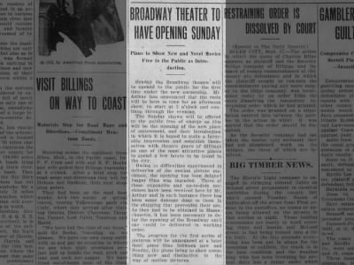 Broadway theatre opening