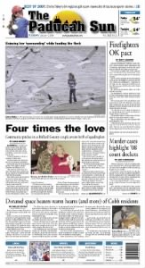 Sample The Paducah Sun front page