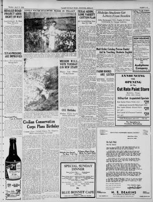 Valley Morning Star from Harlingen, Texas on April 3, 1938 · Page 19
