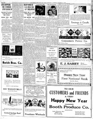 The evening news from sault sainte marie michigan on december 31 the evening news from sault sainte marie michigan on december 31 1936 page 8 m4hsunfo