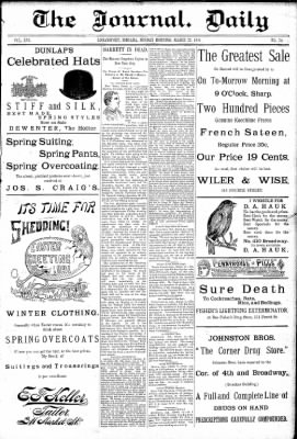 Logansport Pharos-Tribune from Logansport, Indiana on March 22, 1891 · Page 1